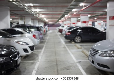 Underground parking with car