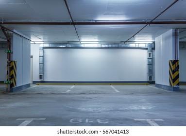 Underground parking, toned
