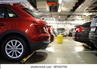 Underground parking/garage interior