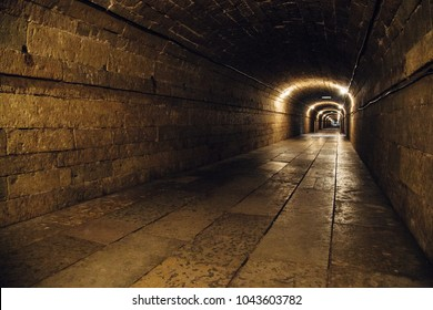 Underground passage in the Great Gatchina Palace of Count Orlov, Russi
