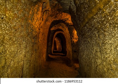 underground pit in Vinh Moc; latitude 17; Quang Tri province; Vietnam. February 22, 2016