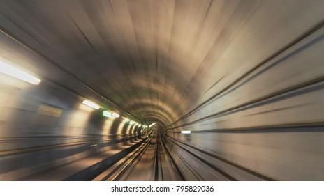 Underground railway tunnel