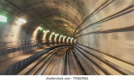 Underground railway tunnel