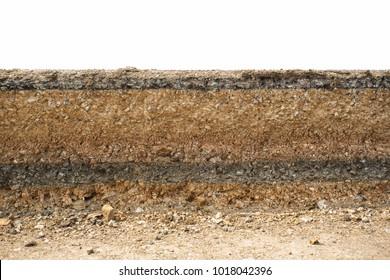 Underground road layer asphalt road.