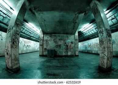 Underground station in Katowice, Poland