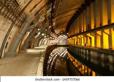 Underground submarine base in Balaklava, Crimea (Object 825 GTS)