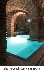 an underground swimming-pool in a castle