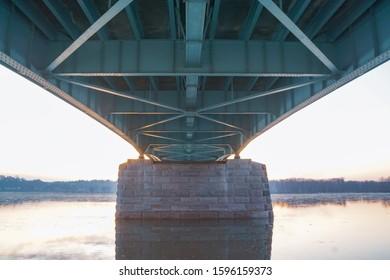 Underneath the Harvey Taylor Bridge in Harrisburg, Pennsylvania.