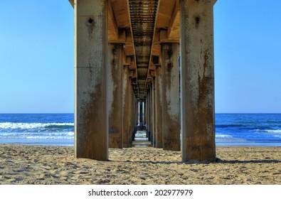 Underneath the Pier on Golden Mile Beach, Durban, South Africa
