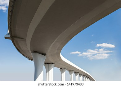 Underside of an elevated roads