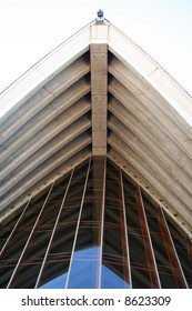 Underside of one of the main sails of the Sydney Opera House