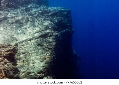 Underwater Cliff Croatia