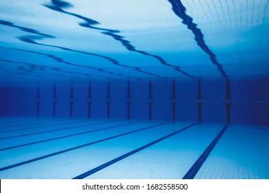 Underwater Empty Swimming Pool.  Swimmingpool