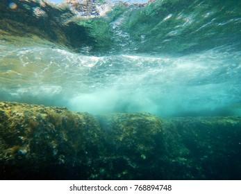 Underwater Landscape of Mediterranean