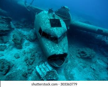 underwater plane wreck