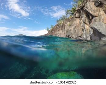 Underwater scene Carribean sea Martinique island