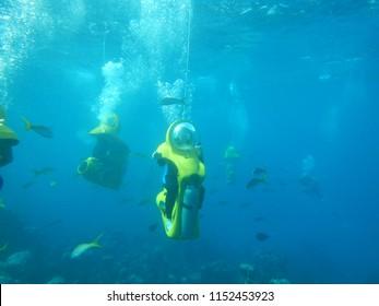 underwater scooter Bahamas