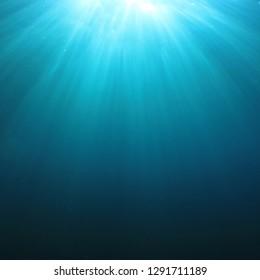 Underwater sunburst background
