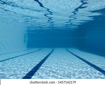 Underwater view from a pool
