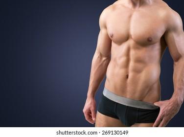 Underwear, Men, Male.