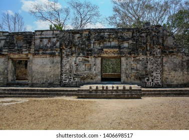 Underworld entrance in the ruins of the ancient Mayan city of Chicanna, Mexico