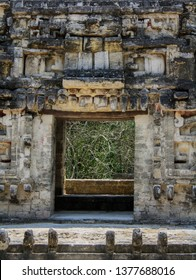 Underworld portal in the ruins of the ancient Mayan city of Chicanna, mexico mouth of the serpent