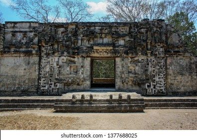 Underworld portal in the ruins of the ancient Mayan city of Chicanna, mexico