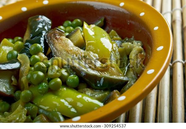 Undhiyu Gujarati Mixed Vegetable Dishindian Eggplant Stock