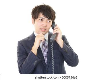 Uneasy Businessman