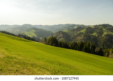 UNESCO biosphere reserve Entlebuch in central Switzerland with beautiful Alps in background