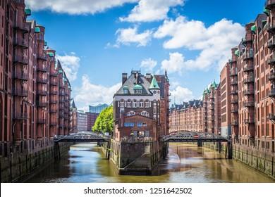 """Unesco World Cultural Heritage """"Speicherstadt"""" in Hamburg - Deutschland"""