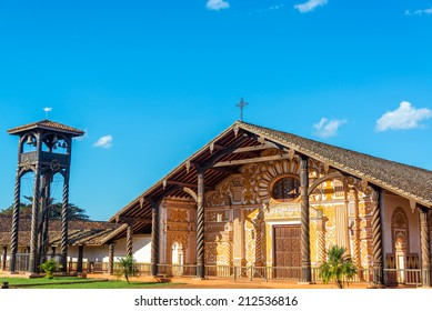 UNESCO World Heritage Jesuit Mission church in Concepcion, Bolivia