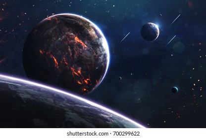 Unexplored Planets Of Faraway Space Deep Image Science Fiction Fantasy In High Resolution