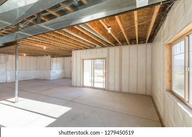 Unfinished Basement under Construction