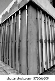 Unfinished Building Support Struts