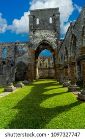 The unfinished church in St. George's, Bermuda.