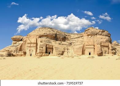 Unfinished tomb at Mada'in Saleh, Al Ula, KSA