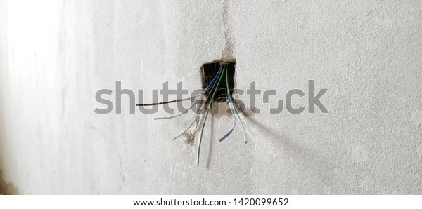 electrical house wiring color code unfinished wiring construction site domestic house stock photo  wiring construction site domestic house