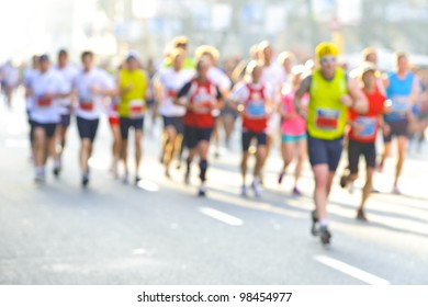 Unfocused marathon runners