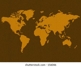 An unfolded map of the world