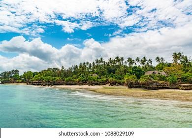 Unguja Coast Landscape in Tanzania. Unguja is known as Zanzibar Island.