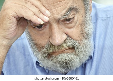 Unhappy Bearded Old Grampa