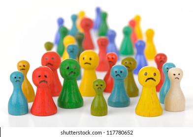Unhappy crowd