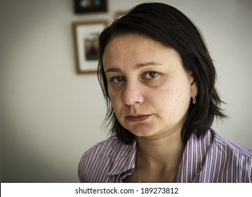"""Unhappy mature woman. """"Real People"""" series"""