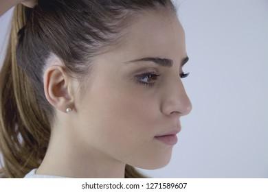 Unhappy sad woman