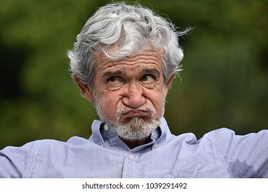 Unhappy Senior Grandfather
