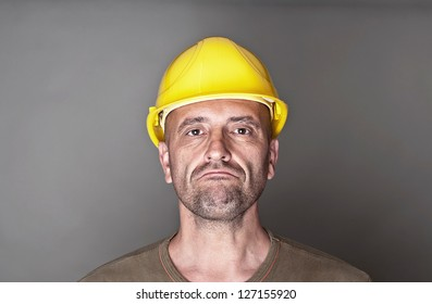 Unhappy, skeptical worker