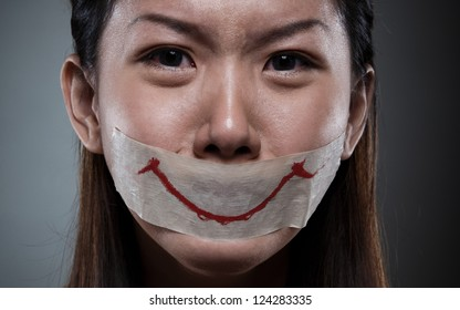 an unhappy women