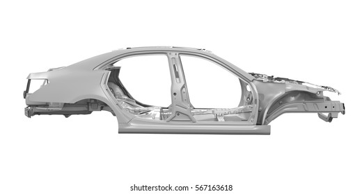 Unibody Car Chassis. 3D rendering