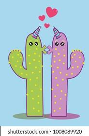 Unicorn Cactus love